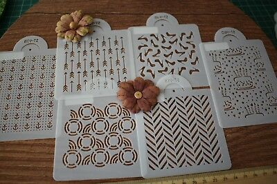 Background Mini Stencils Mask Template Quilting Mixed Media Cake