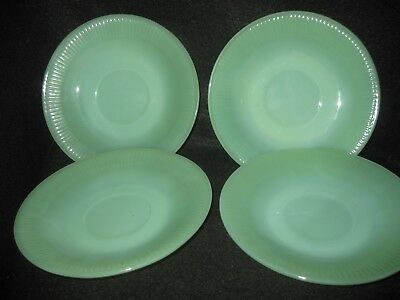 Vintage Set Of Jadeite Fire King Oven Fire King Ware Saucers