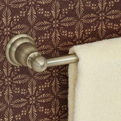 """Signature Hardware 30"""" Country Collection Towel Bar in Antique Brass"""