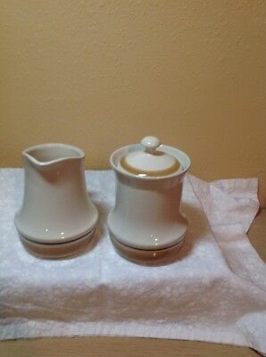 Set Of Water Colors Hearthside Dawn Pattern Creamer And Sugar With Lid Tall