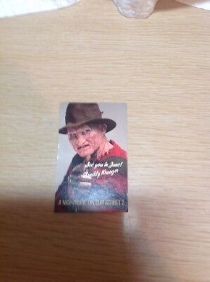 Rare A Nightmare On Elm Street Freddy Kureger 1986 Calendar