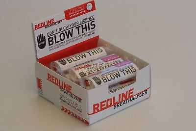 25 x REDLINE BREATHALYSER: DISPOSABLE BREATH ALCOHOL TEST: CERTIFIED PRODUCT