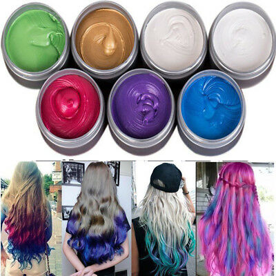 7Colors Hair Color Pomades Colors's DIY Wax Mud Dye Styling Cream Disposable