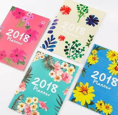 2018 flower design schedule notebook monthly planner organizer diary a4 agendas