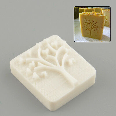 Heart Tree Handmade Yellow Resin Soap Stamp Stamping Mold Mould Craft DIY