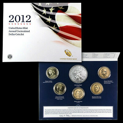2012 Annual Uncirculated Dollar Set (Includes 2012-W Silver Eagle) QUANTITY HERE
