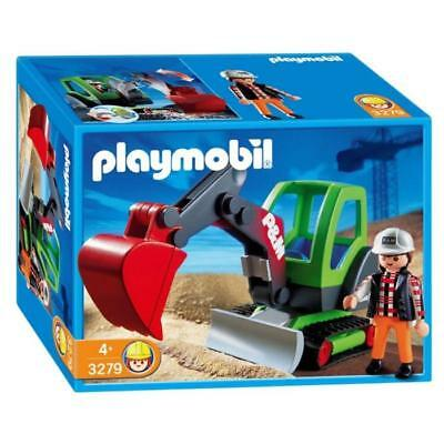 playmobil 3279 minibagger baustelle weihnachten geburtstag. Black Bedroom Furniture Sets. Home Design Ideas