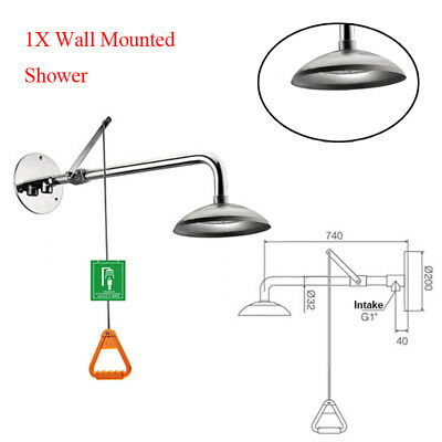 Wall Mounted Stainless Steel Emergency Shower For Face Body Eye Minimize Damage
