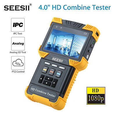 "SEESII 4""1080P HDCombine Tester IPC CCTV Analog Camera Test Handheld TFT Display"