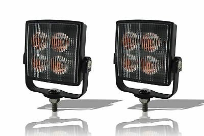 Amber Square Strobe Flashing LED Light Recovery Truck Breakdown Lorry Lamp x2