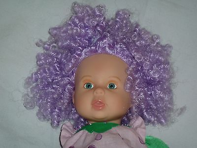 """12"""" Zapf Creation Doll With Purple Curly Hair (C)"""