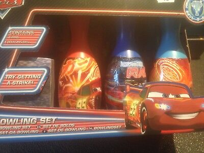 Disney Pixar Cars Bowling Set : 6 Pins And 1 Bowling Ball - Try Getting A Strike