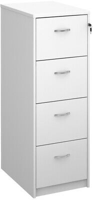 Deluxe executive four drawer filing cabinet in white