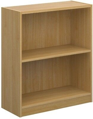 Economy bookcase 725mm high in oak