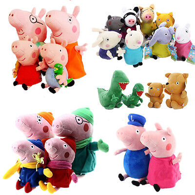 New All Peppa Pig and Friends Beanies and Buddies - Soft Plush Teddy Toys