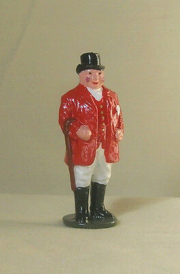 Huntsman in red jacket & top hat, 54mm train layout figure Reproduction Johillco