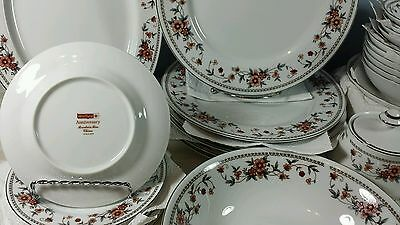 Beautiful Sheffield Anniversary Porcelain China Set- 35 Pieces