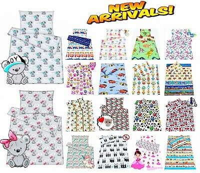 Baby Kid Toddler Single Bed Bedding Set Duvet Cover Pillowcase 100% Cotton