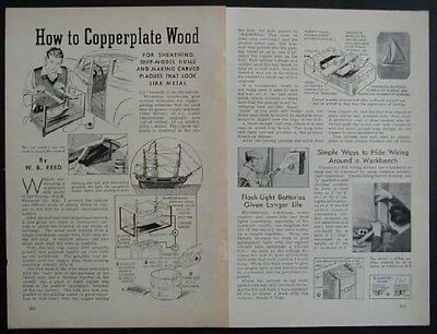 HowTo Copperplate Wood 1940 Info Formula Models Plaques