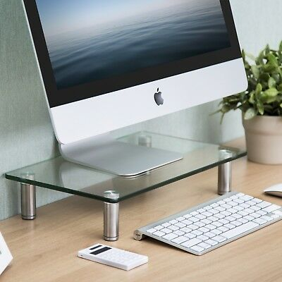Computer Monitor Riser Stand Desktop LCD Screen Laptop Shelf TV Office Table
