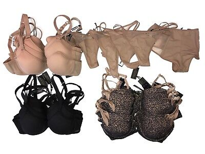 Lot of 21 Addiction Bras and Panties Sizes 32A-36C and XS-XL Liquidation NWT