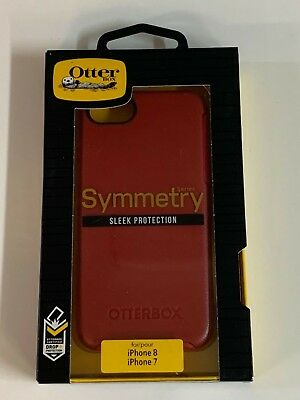 """OtterBox Symmetry Series Case For iPhone 7 & iPhone 8 4.7"""" Rosso Corsa Red"""