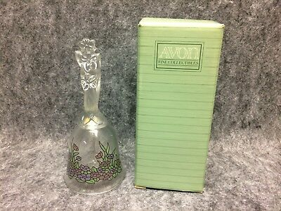 1992 Avon Fine Collectibles Floral Fantasy Crystal Bell New Old Stock In Box