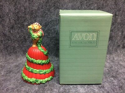 1991 Avon Fine Collectibles Porcelain Christmas Bell Garland Of Greetings NOS