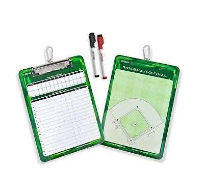 GoSports Baseball & Softball Coach Double Sided Field and Lineup Clipboard
