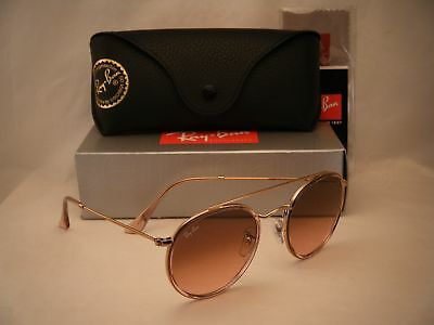 26c1a7c245 Ray Ban 3647N Round Double Bridge Pink Copper w Pink Gradient (RB3647N  9069A5)
