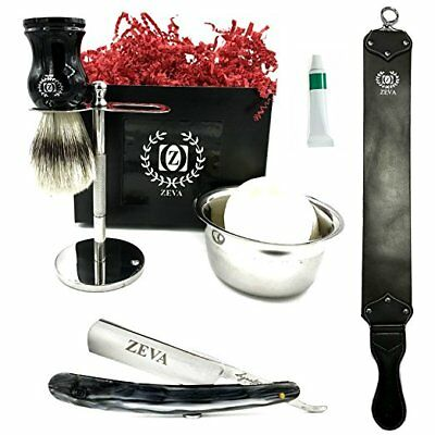 "Mens Straight Razor Traditional Wet Shave Grooming Kit 5/8"" Carbon Steel hollow"