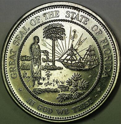 1968 Great Seal of the State of Florida Brilliant Uncirculated Capitol Medal