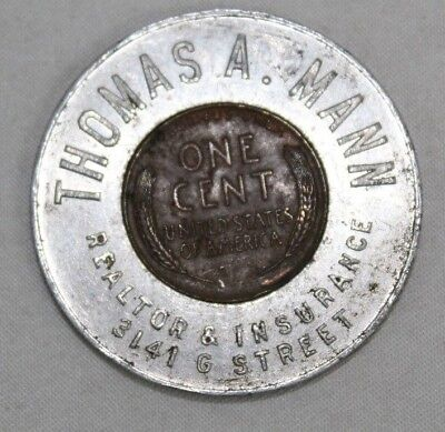 1946 Philadelphia Insurance Advertisement Wheat Penny Coin w/ a Haunted History!