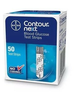 Bayer Contour Next Blood Glucose 50 Test Strips New Sealed Pack