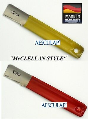 """AESCULAP """"McClellan Style"""" STRIPPING KNIFE SET Hand Coat Stripper Carding KNIVES"""