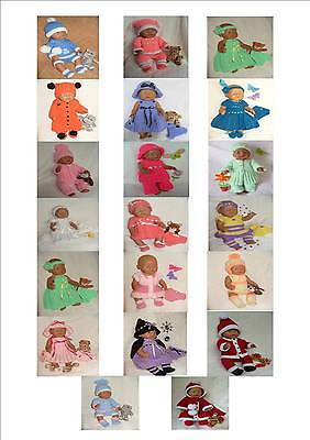 Carol Ann Designs Doll Knitting Patterns Numbers *1 to *29 (Baby Born Size Doll)