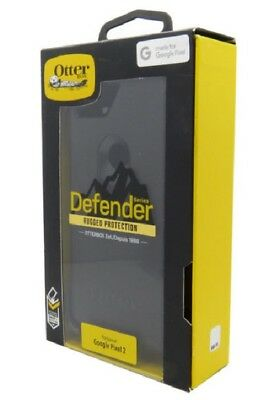 NEW OEM Otterbox Defender Case Holster Screen Protector for Google Pixel 2 Black