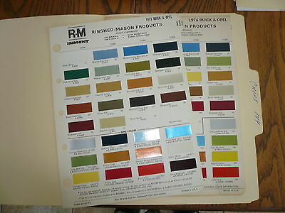1970 Ford & 1971 Lincoln Mark III & Thunderbird R-M Color Chip Paint Samples -