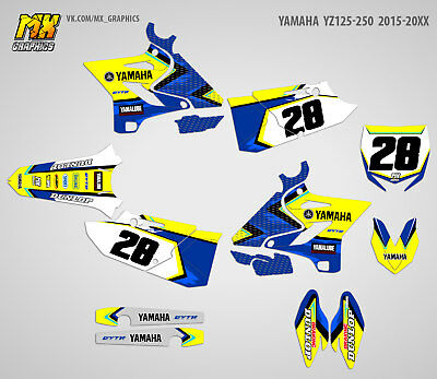 MX Graphics Stickers Kit Decals Yamaha YZ125 YZ250 2015 2016 2017