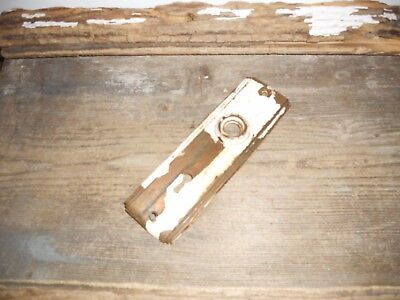 Vtg Chippy White Ribbed Antique Door Knob Back Plate Arts/crafts Farmhouse Find
