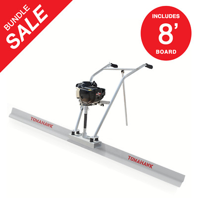 37.7cc 4 Stroke Gas Concrete Wet Screed Power Screed Cement 8ft Board
