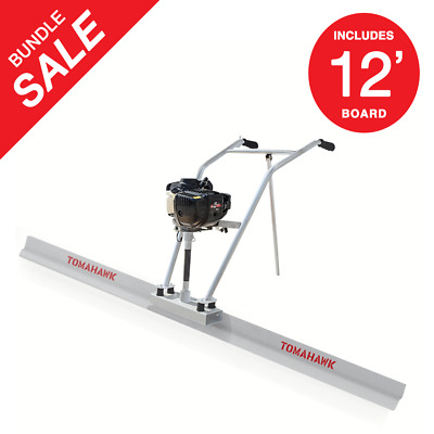 37.7cc 4 Stroke Gas Concrete Wet Screed Power Screed Cement 12ft Board