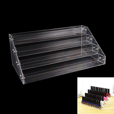 Makeup Nail Polish Display Stand Organizer Clear Holder Rack Acrylic 4 Tiers KW