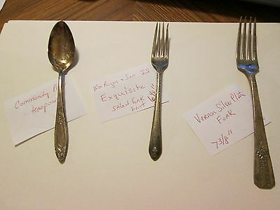 Silverware forks Vernon Silverplate Rogers IS  Community spoon 3 pieces