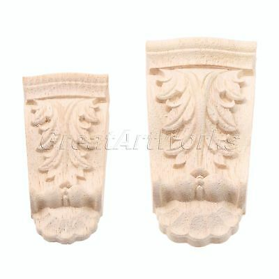 1x Woodcarving Corner Decal Wood Carved Onlay Applique Home Furniture Decoration