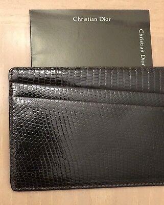 CHRISTIAN DIOR Men's Wallet Vintage 2sided 5 slots authentic great gift reg 250.