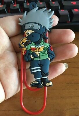 Naruto Kakashi Paper Clip Bookmark 4 Inches Anime US Seller
