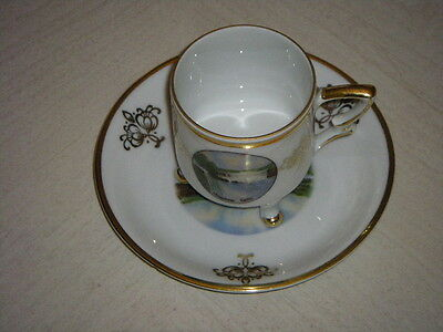 Mitterteich Bavaria 50 Demitasse Cup and Saucer Made in Germany (Niagara Falls)