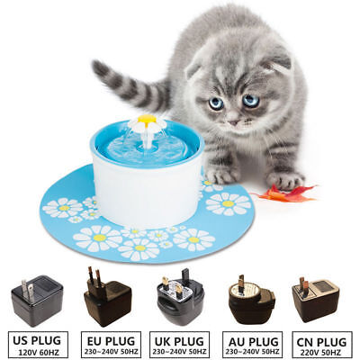 1.6L Automatic Pet Cat Dog Water Drinking Fountain Pet Bowl with Silicon Mat