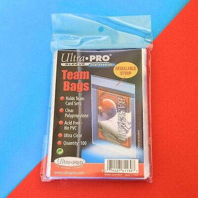 Ultra Pro Team Bags - Pack of 100 - New & Factory Sealed